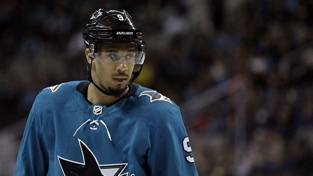 San Jose Sharks forward Evander Kane has been suspended for Game 2 against Vegas because of a cross-check to the head of Pierre-Edouard Bellemare. (Photo: Associated Press)