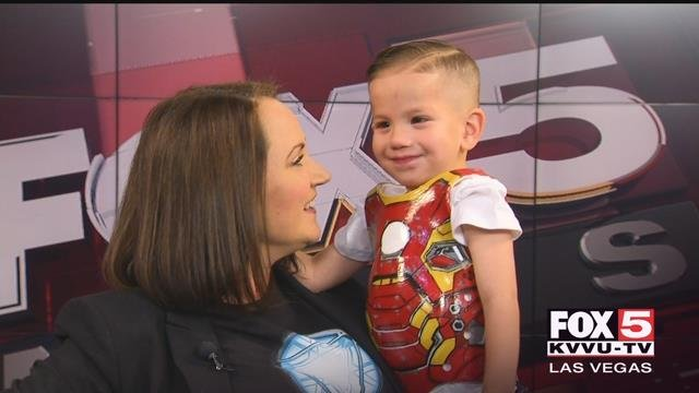 A little boy with a very rare heart condition just got some brand new armor to help protect him. (FOX5)