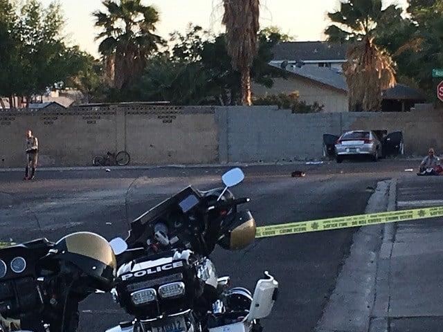 A crash is seen on April 28, 2018. (Kurt Rempe/FOX5)
