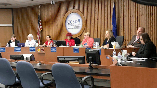 The Clark County Board of Trustees voted for the new superintendent on May 2, 2018. (Brad Boyer/FOX5)