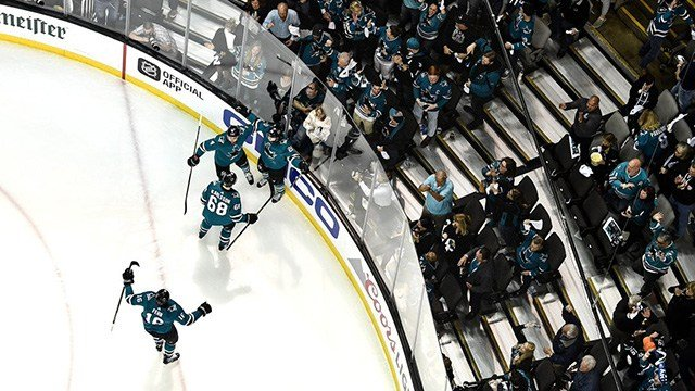 Tomas Hertl scored his fifth goal of the playoffs and the San Jose Sharks evened their second-round series against the Vegas Golden Knights with a 4-0 victory in Game 4. (Photo: San Jose Sharks)