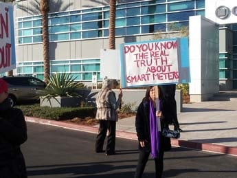 Smart meter controversy has led to protests at utility meetings