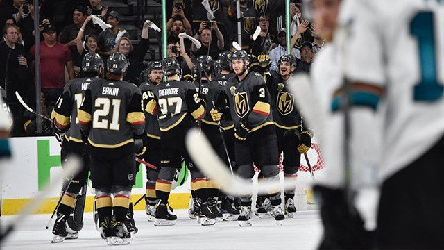 The Vegas Golden Knights took a 3-2 series lead, beating the Sharks 5-3 at home. (Photo: Vegas Golden Knights)
