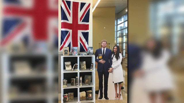 A local library released a British collection just in time for the royal wedding. (Source: Mike Doria)