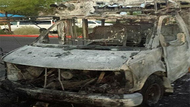 A Boys and Girls Club bus was destroyed by fire (Boys and Girls Club).