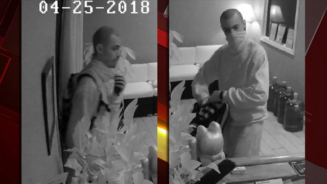 Police released images of a man suspected of an attempted robbery at a business near Spring Mountain Road and Jones Boulevard. (LVMPD)