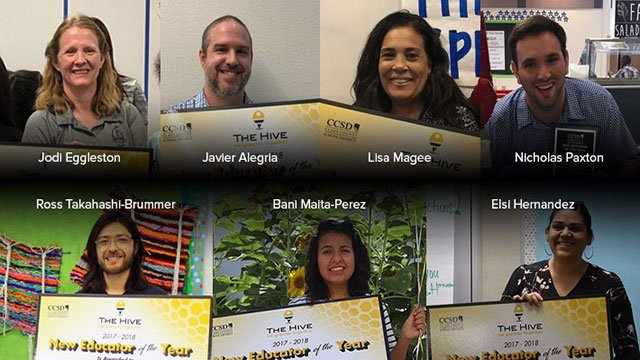 CCSD selected seven first-year teachers for the 'New Educators of the Year' award (CCSD).