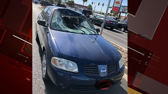 A pedestrian was critically injured when he was hit by a car at Sahara Avenue and Maryland Parkway Friday, according to Las Vegas Metropolitan Police. (Photo: LVMPD)