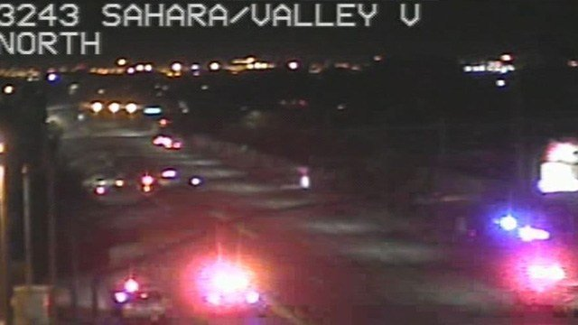 A motorcyclist suffered critical injuries in a crash Friday with an SUV on Valley View Boulevard near Sahara Avenue, according to Metro Police. (Photo: FastCam)