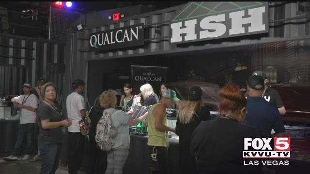 A valley dispensary has rolled out the first legal marijuana farmers market in the country and it's put several valley marijuana businesses on display.  (Faith Tanner / FOX5)