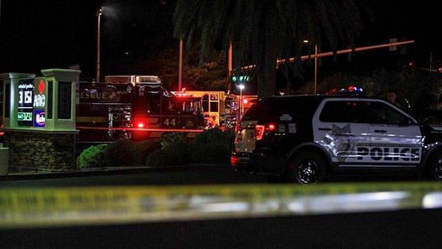 Metro Police said one person was killed in a crash at Hualapai Way and Sahara Avenue Tuesday night.(Photo: Gai Phanalasy / FOX5)