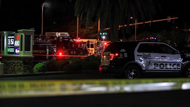 Metro Police said one person was killed in a crash at Hualapai Way and Sahara Avenue Tuesday night. (Photo: Gai Phanalasy / FOX5)