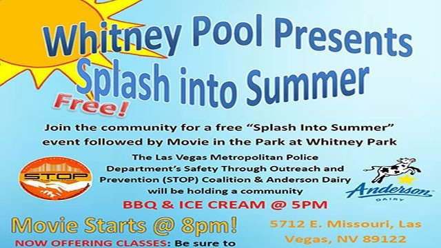 A flyer for the 'Splash into Summer' event (Clark County Parks and Recreation).