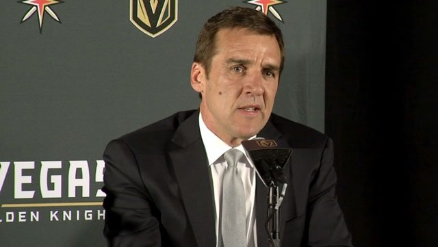 George McPhee was named as a finalist for the NHL's General Manager of the Year Award. (FOX5/File)