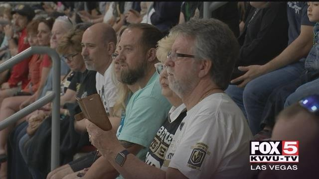Fans from all over packed City National Arena Thursday to cheer on the team as they practiced. (FOX5)
