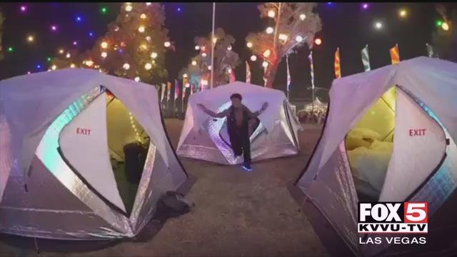 EDC revelers will spend the weekend in air conditioned tents (EDC / FOX5).