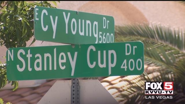 Stanley Cup Drive is nestled in an east valley neighborhood with other prize-winning parkways, like Super Bowl Drive and World Series Court. (Gai Phanalasy / FOX5)