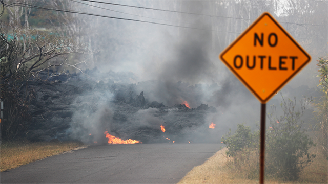Lava flow from the Kilauea volcano on Hawaii's largest island. (Photo: AP)