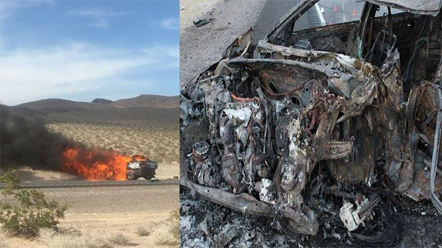 A three-vehicle crash left five dead May 20, 2018 (NHP / FOX5).