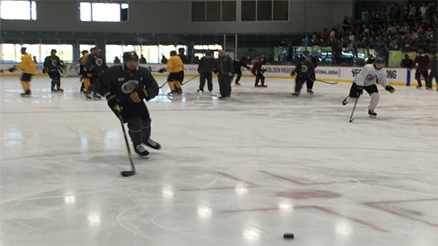 The Vegas Golden Knights practice at City National Arena (FOX5).
