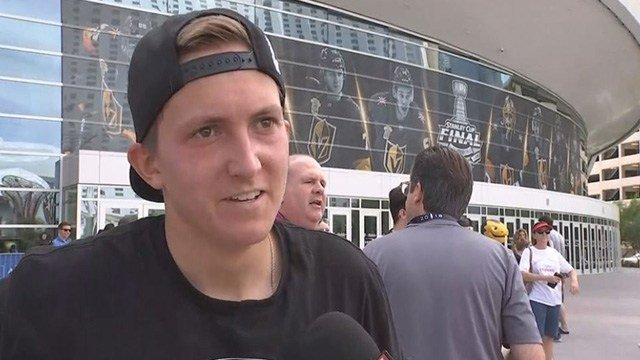 A Vegas Golden Knightsfan completed a scavenger hunt and won two tickets to Game 2 of the Stanley Cup Final! (FOX5)