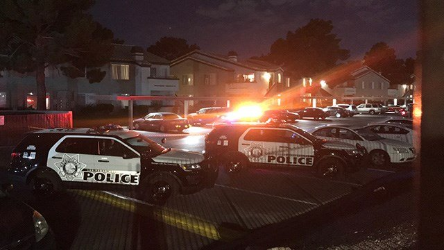 Metro Police said officers were investigating a homicide on the 3100 block of Key Largo Drive, near Tropicana Avenue and McLeod Drive Tuesday night. (Photo: Gai Phanalasy / FOX5)