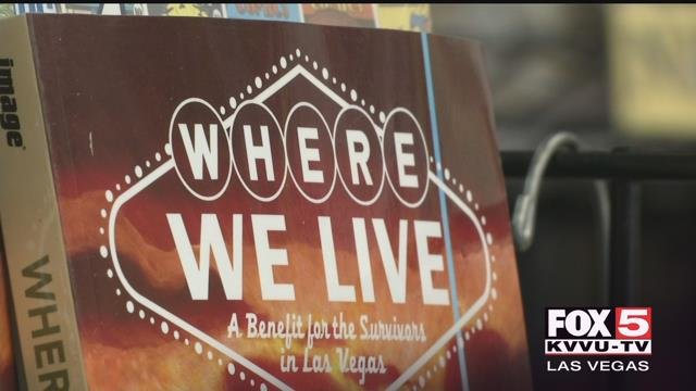 For seven months, writers J.H. Williams and Wendy Wright-Williams worked to piece together a 331-page collection of art work that explores the Las Vegas mass shooting and the days following. (Abby Theodros/FOX5)