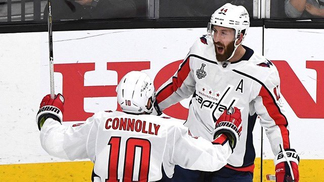 Alex Ovechkin scored and blocked a shot in the second period and Braden Holtby made spectacular saves, lifting the Washington Capitals to a series-tying 3-2 win over the Vegas Golden Knights. (Photo: Washington Capitals)