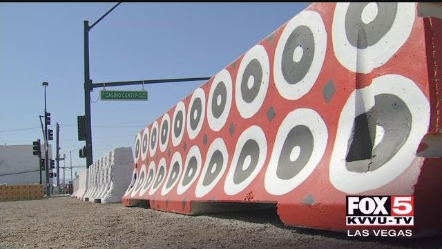The city of Las Vegas agreed to repaint a design at the Las Vegas Healing Garden. (Photo: Kurt Rempe/FOX5)