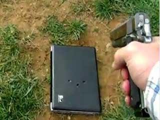 Tommy Jordan shoots his daughter's laptop