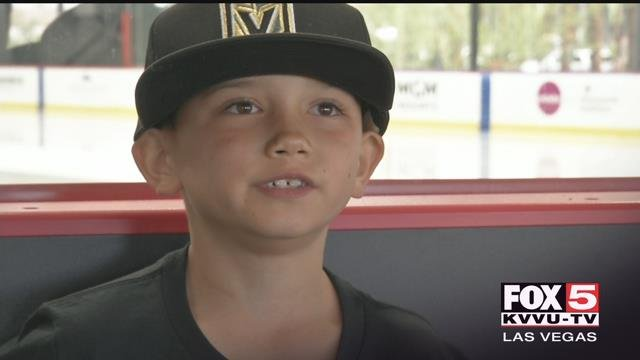 An eight-year-old boy is about to face his third open-heart surgery and he said the Golden Knights have been helping to get him through this tough time. (FOX5)