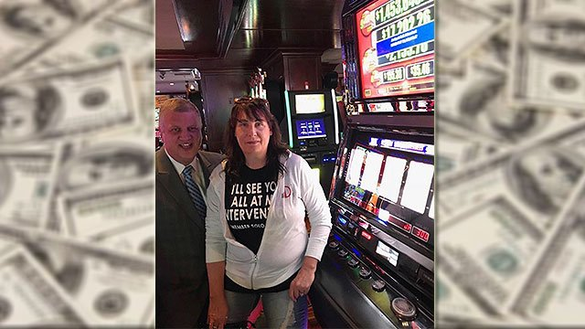 Rhonda L. from Wisconsin won the largest jackpot payout in the history of the Golden Gate Hotel & Casino June5, 2018 (Derek Stevens / Twitter).