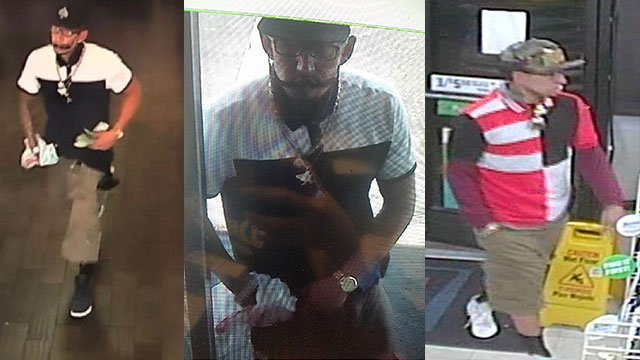 LVMPD released surveillance video stills of an armed robbery suspect (Courtesy: LVMPD).