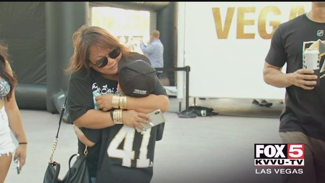 A young Golden Knights fan was surprised with Stanley Cup tickets Thursday. (FOX5)