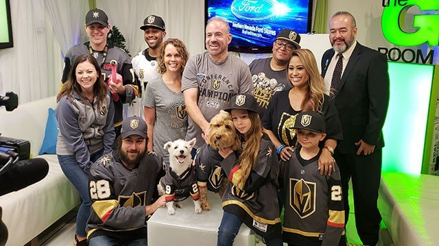 A special group of Golden Knights' fans stopped by the FOX5 studios June 8, 2018 (FOX5).