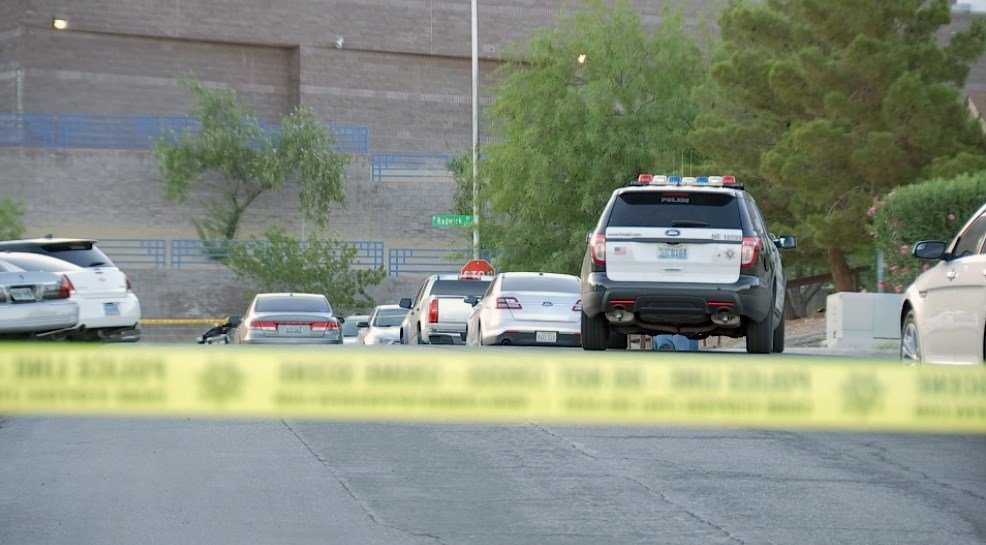 An officer-involved shooting left one man dead near Radwick Drive and East Owens Avenue. June 14, 2018 (Photo: Luis Marquez /FOX5)