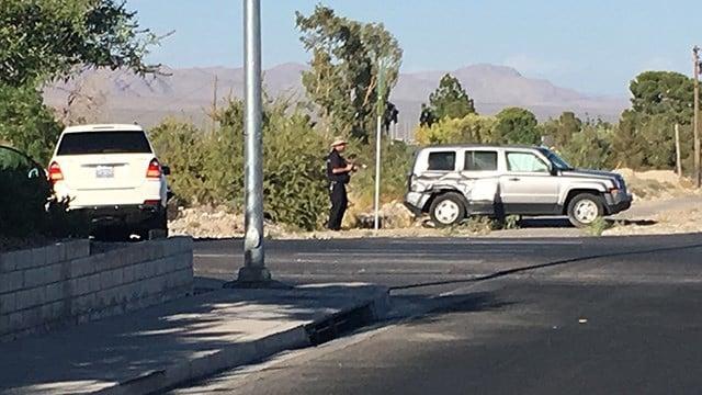 Scene of a critical crash at Brent Lane and El Capitan Way. (Photo: Kurt Rempe/FOX5)