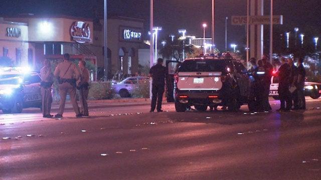 Police investigated a stabbing June 17, 2018 in Las Vegas. (Luis Marquez/FOX5)