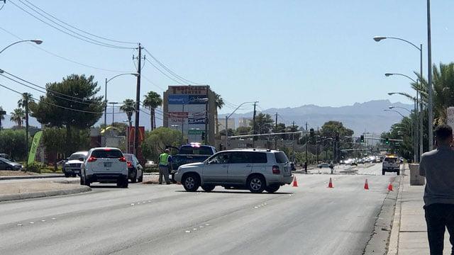 Las Vegas Metro police investigate a deadly crash on June 18, 2018. (Gai Phanalasy/FOX5)