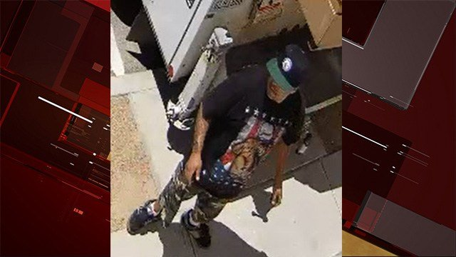 A suspect that may have committed grand larceny in North Las Vegas. (Photo: NLVPD)