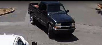 The suspect's truck seen in North Las Vegas. (Photo: NLVPD)