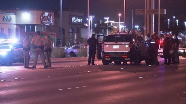 Police investigated a stabbing June 17, 2018 in Las Vegas. (Luis Marquez/FOX5)