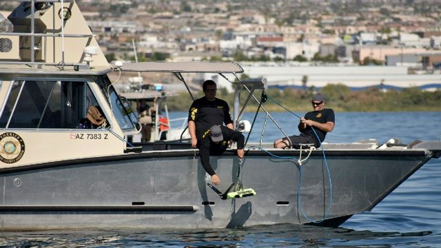 The Mohave County Sheriff's Office deployed a sonar equipment to search the Lake Havasu for Rosario Carreon. (Source: MCSO)