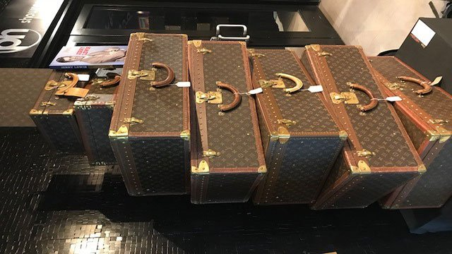 Jerry Lewis owned many Louis Vuitton suit cases (Mike Doria / FOX5).