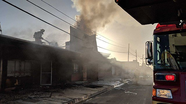 Firefighters responded to a fire that damaged a vacated restaurant. (Photo: Tim Szymanski/Fire & Rescue)