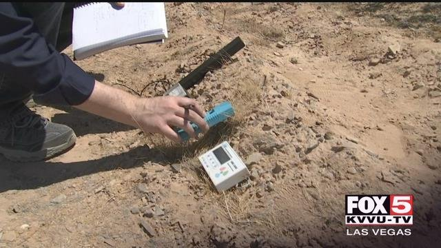 A paranormal researcher saidhe's the first person to ever discover a time warp, and that he found iton the outskirts of Las Vegas. (FOX5)