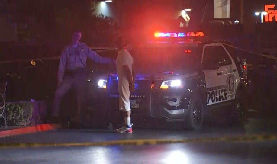 Cops&detained numerous people after a battle at Town Square was falsely reported as an active shooting.( Kurt Rempe/ FOX5)