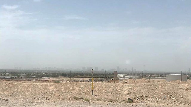 The Las Vegas Strip was barely visible due to a dust advisory on July 9, 2018. (Photo: Evelyn Moller/Facebook)