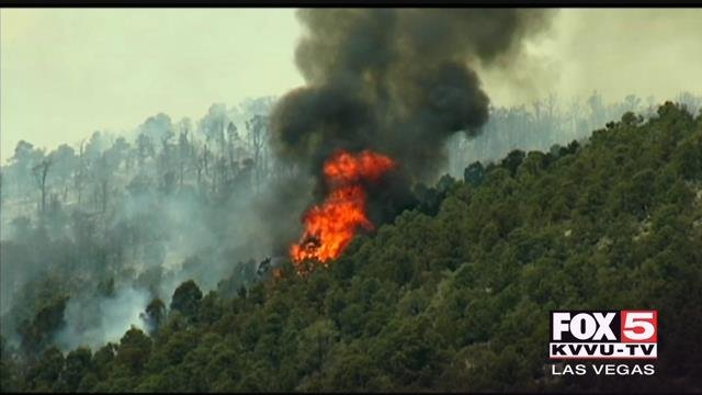 Firefighters have been preparing for extremely dangerous fire conditions on Mt. Charleston. (FOX5)