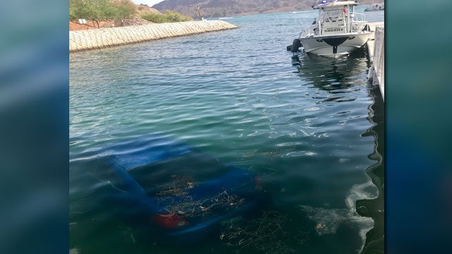 A car was pulled from Lake Havasu on July 6, 2018. (Source: MCSO)